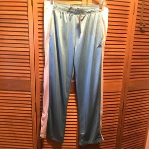 Adidas Blue and White Performance Pants